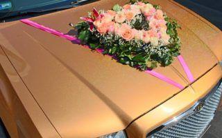 limuzin esküvő virágcsokor