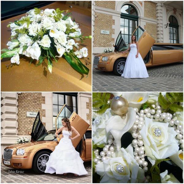 Menyasszonyi autó díszítés